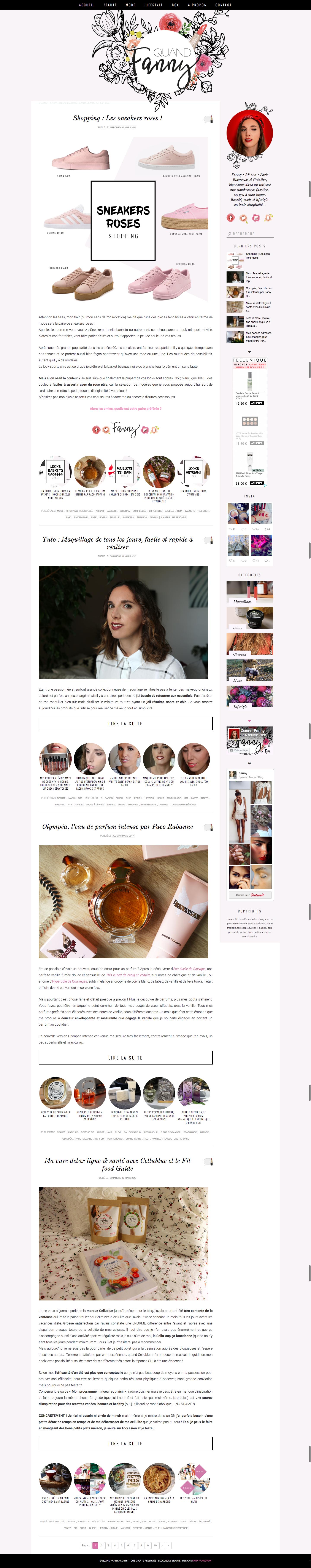 Quand Fanny Blog beauté lifestyle